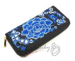 Peněženka s modrou růží