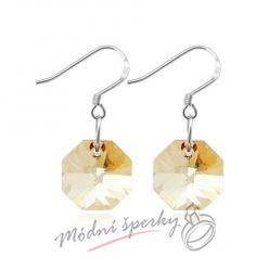 Náušnice Magic stone gold s krystaly Swarovski Elements