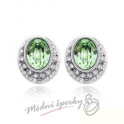 Náušnice Eclipse green s krystaly Swarovski Elements