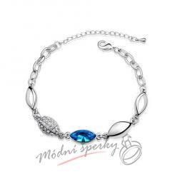 Náramek s krystaly Swarovski Elements  capri blue eye