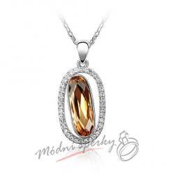 Dračí oko se zlatým krystalem Swarovski elements