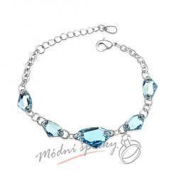 Náramek s krystaly Swarovski Elements Blue stones
