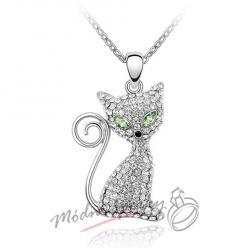 Náhrdelník kočka krystaly SWAROVSKI ELEMENTS