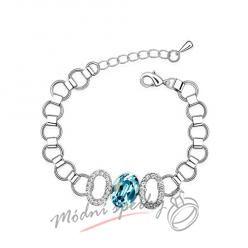 Náramek s krystaly Swarovski Elements O aquamarine stone