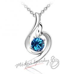 Řetízek s krystaly swarovski elements Blue romance