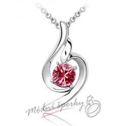 Řetízek s krystaly swarovski elements Rose romance