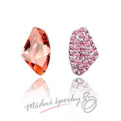 Náušnice Two stones red s krystaly Swarovski Elements