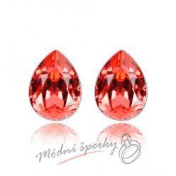 Náušnice Tear stone red s krystaly Swarovski Elements
