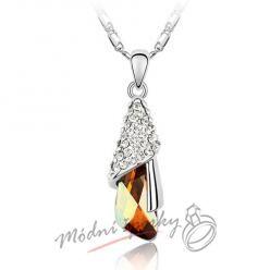 Romantický přívěšek měďený krystal s krystaly SWAROVSKI ELEMENTS