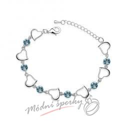 Náramek s krystaly Swarovski Elements one heart modré