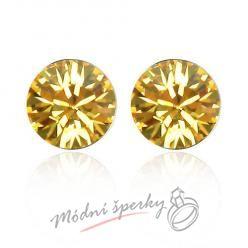 Náušnice Žlutý krystal s krystaly Swarovski Elements