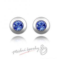 Náušnice Blue crystals s krystaly Swarovski Elements