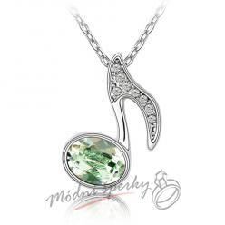 Zelená notička s krystaly SWAROVSKI ELEMENTS