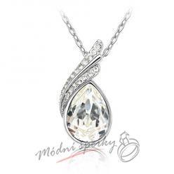 náhrdelník White tear s krystaly SWAROVSKI ELEMENTS