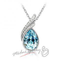 náhrdelník blue tear s krystaly SWAROVSKI ELEMENTS