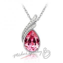 náhrdelník rose tear s krystaly SWAROVSKI ELEMENTS