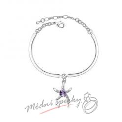 Náramek s krystaly Swarovski Elements Star light purple