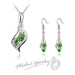 Elegance green set – s krystaly SWAROVSKI ELEMENTS