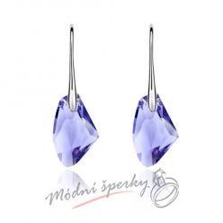 Velké kameny fialové - krystaly Swarovski elements