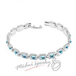Náramek s krystaly Swarovski Elements krychličky modré