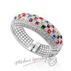 Náramek s krystaly Swarovski Elements giant multicolor