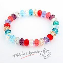 Náramek s krystaly Swarovski Elements broušené krystaly multicolor