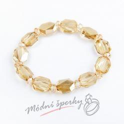 Náramek s krystaly Swarovski Elements broušené krystaly zlaté