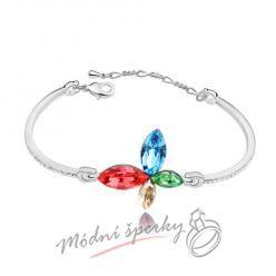 Náramek s krystaly Swarovski Elements butterfly multicolor