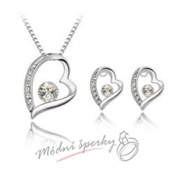 Big heart set white – s krystaly SWAROVSKI ELEMENTS