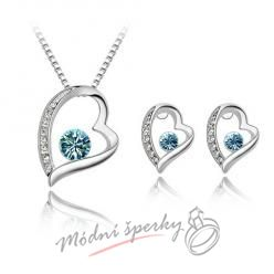 Big heart set blue – s krystaly SWAROVSKI ELEMENTS