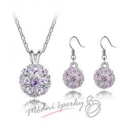 Sparkling ball set purple – s krystaly SWAROVSKI ELEMENTS