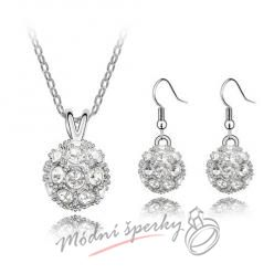 Sparkling ball set white – s krystaly SWAROVSKI ELEMENTS