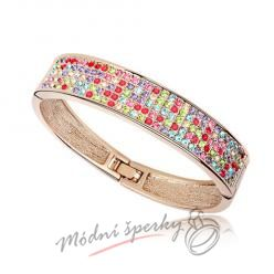 Náramek s krystaly Swarovski Elements gold strong - multicolor