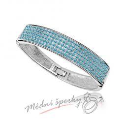 Náramek s krystaly Swarovski Elements Strong - aquamarine
