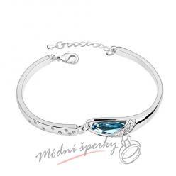 Náramek s krystaly Swarovski Elements shell aquamarine