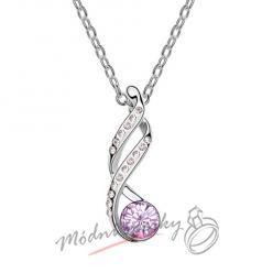 Ornament s fialovým krystalem swarovski elements