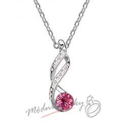 Ornament s růžovým krystalem swarovski elements