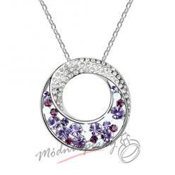 Zahadný kruh s fialovými kamínky - s krystaly SWAROVSKI ELEMENTS