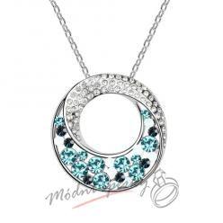 Zahadný kruh s modrými kamínky - s krystaly SWAROVSKI ELEMENTS