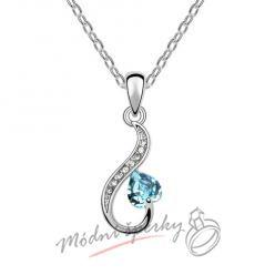 Srdce s modrým kamínkem