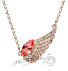 Golden wing with red crystal swarovski elements