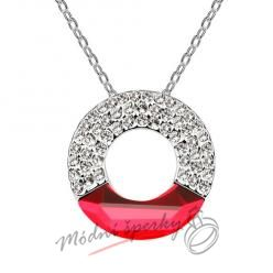 Červený kruh s krystaly Swarovski elements
