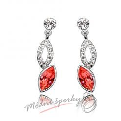Náušnice diamond red s krystaly SWAROVSKI ELEMENTS