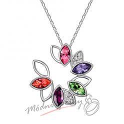 Barevný květ se kamínky s krystaly SWAROVSKI ELEMENTS
