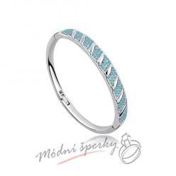 Náramek s krystaly Swarovski Elements stripes blue