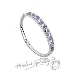 Náramek s krystaly Swarovski Elements stripes purple