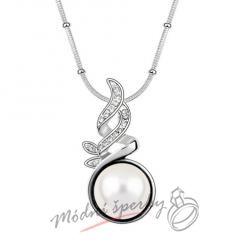 Spirála s čirou perlou - s krystaly SWAROVSKI ELEMENTS