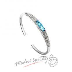 Náramek s krystaly Swarovski Elements Sparkling aquamarine