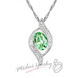 Symbol se zeleným kamenem - krystal Swarovski elements