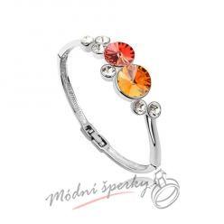 Náramek s krystaly Swarovski Elements Ring orange